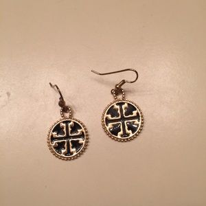 Tory Burch earrings gold and black